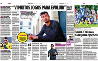 Zagueiro Jubal falou com exclusividade ao jornal O Jogo