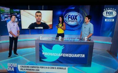Alisson é um dos convidados do Bom dia Fox, na Fox Sports