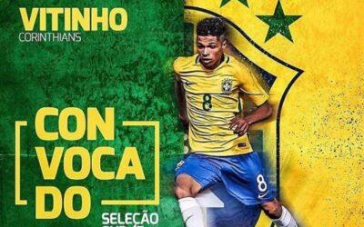 Vitinho, do Corinthians, é convocado para período de preparação da Seleção Brasileira Sub-17