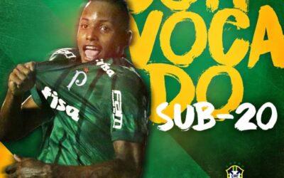 Fernando, atacante do Palmeiras, é convocado para amistosos da Seleção Brasileira Sub-20