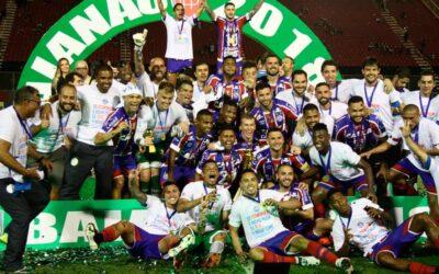 Elber e Edigar Junio conquistam título estadual pelo Bahia sobre o rival Vitória
