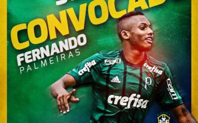 Fernando, do Palmeiras, é convocado para período de treinos com a Seleção Brasileira Sub-20