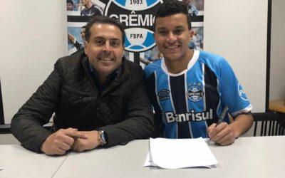 Jovem volante Caique, ex-Palmeiras, é novo reforço da base do Grêmio!