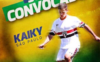 Kaiky, jovem atacante do São Paulo, é convocado para a Seleção Brasileira Sub-15