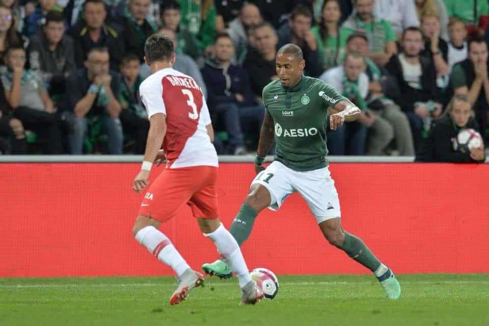 Com Gabriel Silva titular, Saint Étienne bate o Monaco e sobe para quarto na tabela do Francês