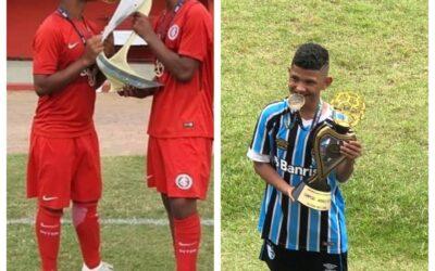 Gabriel Chokito, do Internacional, e Cadu, do Grêmio, conquistam títulos importantes na reta final da temporada