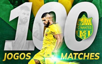 Lima completa 100 jogos pelo Nantes