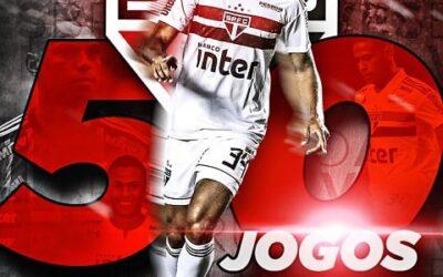Com triunfo, Bruno Alves completa 50 jogos pelo São Paulo