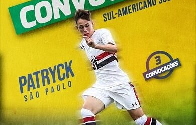 Patryck é convocado para a disputa do Sul-Americano Sub-17