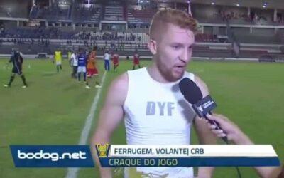 Ferrugem é eleito craque do jogo em clássico pela Copa do Nordeste
