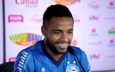 Destaque da primeira partida contra o CRB, Élber concede entrevista coletiva no Bahia