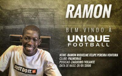 Ramon, zagueiro do Palmeiras sub-13, é o novo cliente da Un1que Football