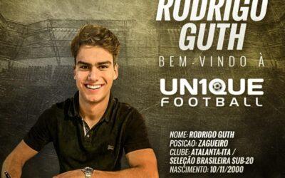 Rodrigo Guth, zagueiro da Atalanta e da Seleção Brasileira Sub-20, é o novo cliente da Un1que Football