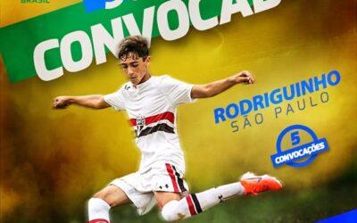 Rodriguinho, meio-campista do São Paulo, é convocado para a Seleção Brasileira Sub-15