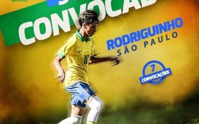 Rodriguinho, meio-campista do São Paulo, é novamente convocado para a Seleção Brasileira Sub-15
