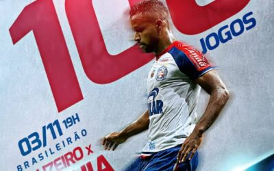 Contra o Cruzeiro, Élber completará 100 partidas pelo Bahia