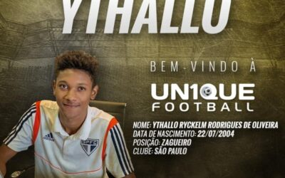 Ythallo, atleta do São Paulo Sub-15, é o novo cliente da Un1que Football