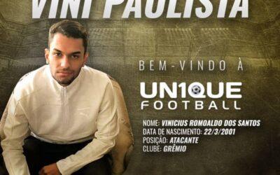 Vini Paulista, atacante do Grêmio, é o novo cliente da Un1que Football