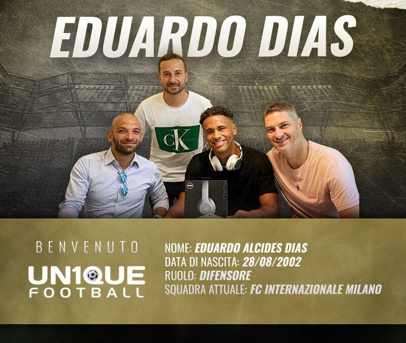 Eduardo Dias, defensor da Inter de Milão, é o novo cliente da Un1que Football