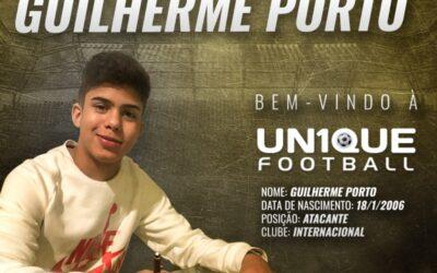 Guilherme Porto, atacante do Internacional Sub-14, é o novo cliente da Un1que Football