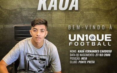Kauã, meia da Ponte Preta sub-15, é o novo cliente da Un1que Football