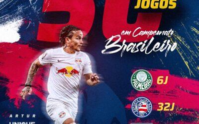Destaque do Red Bull Bragantino, Artur completa 50 jogos em Campeonato Brasileiro
