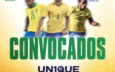 Trio Un1que Football é convocado para a Seleção Brasileira e jogará na estreia das Eliminatórias