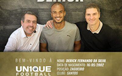 Derick, zagueiro do Santos, é o novo cliente da Un1que Football