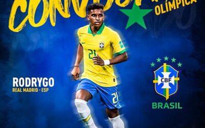 Atacante Rodrygo é convocado para a Seleção Brasileira Olímpica