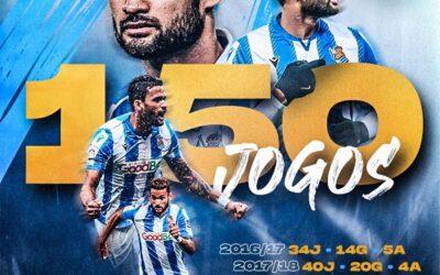 Willian José alcança a marca de 150 partidas pelo Real Sociedad