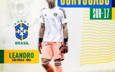 Goleiro Leandro é convocado para a Seleção Brasileira Sub-17