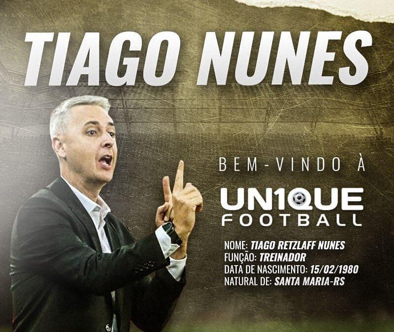Um dos principais técnicos do Brasil, Tiago Nunes é o novo cliente da Un1que Football