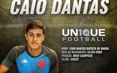 Caio Dantas, meio-campista do Vasco Sub-20, é o novo cliente da Un1que Football