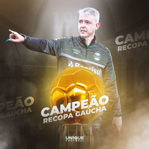 Em menos de dois meses, Tiago Nunes conquista o seu segundo título no Grêmio