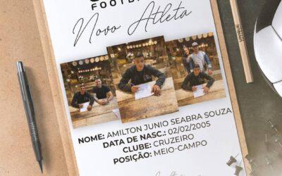 Amilton, meio-campista do Cruzeiro Sub-17, é o novo cliente da Un1que Football