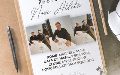 Marcelo Maia, lateral-esquerdo do Athetico-PR Sub-15, é o novo cliente da Un1que Football