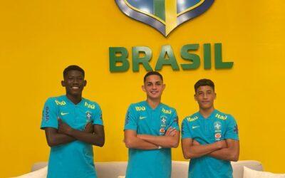 Trio Un1que Football é convocado para a Seleção Brasileira Sub-15