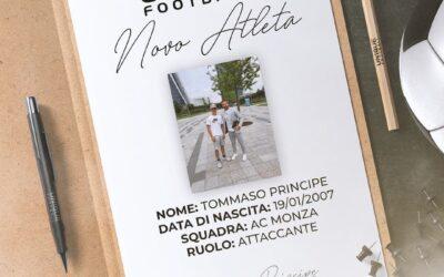 Tommaso, atacante do Monza-ITA, de 14 anos, é o novo cliente da Un1que Football