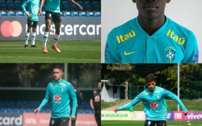 Quarteto Un1que Football treina com a Seleção Brasileira Sub-15